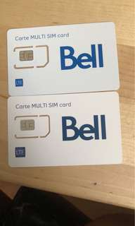 Bell Sim Card (Brand New)
