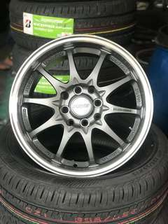 Ce28 15 inch sports rim alza jazz wira iriz satria neo *big big offer*