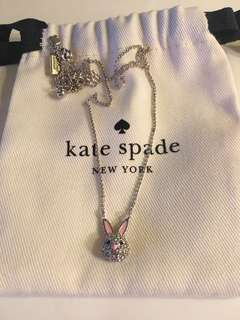 Kate Spade Crystal Bunny Rabbit Necklace