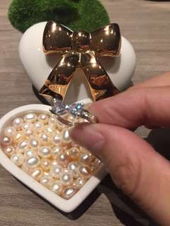 Ribbon diamond ring sparkling ted baker