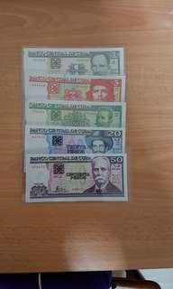 Cuba banknotes set