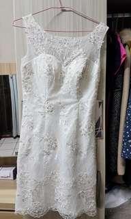 🚚 白色亮片禮服