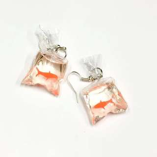 童趣耳環-撈金魚🐟