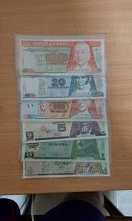 Guantemala banknotes set