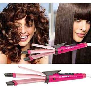 Nova 2 in 1 Hair Beauty Tool Hair Curler Hair Straightener