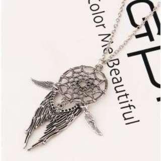 Beauty Dreamcatcher Feather Clavicle Necklace Pendant Temperament Item