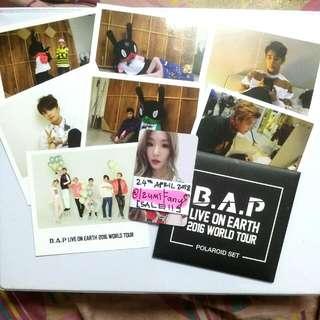 B.A.P Live On Earth 2016 World Tour Official Polaroid Set