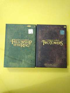 The Lord of the Rings  2 VCD sets (original)