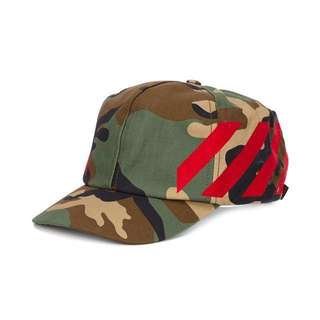 Off-White Virgil Abloh Camouflage Print Cap