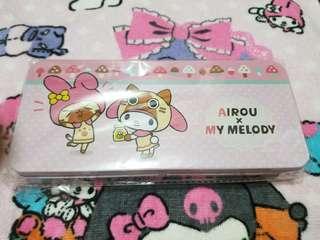 Airou x My Melody 筆盒 鐵盒