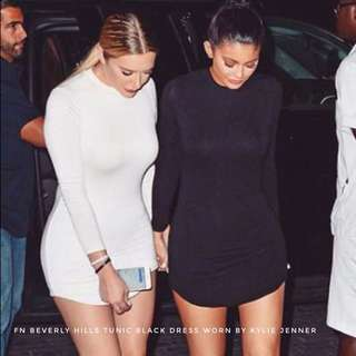 Fashion Nova beverly hills tunic black dress as seen on Kylie Jenner • little black dress