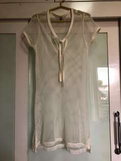Bayo cream cover-up dress