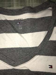 Women's Tommy Hilfiger grey stripped  long sleeve