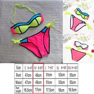 Girls 2-Piece Swimsuit   Set   Halter   Medium