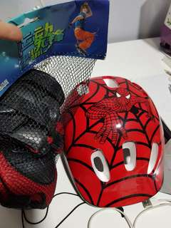 Spiderman helmat and safety gear