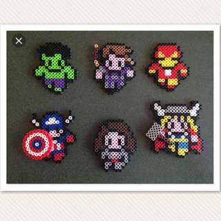 Marvel Hama Bead Designs