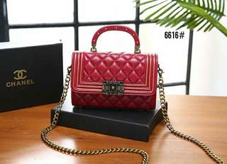 ch4n3l Flap Bag with Top Handle 👜  Kode 6616#