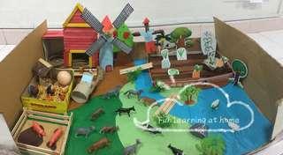 Farm scenery/ tot school learning (rental / make to order)