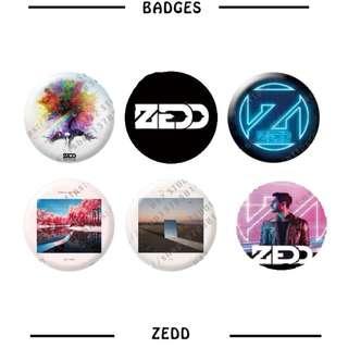 Zedd Badges / Pins ( D1 )