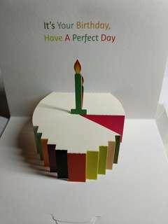 立體卡 心意卡 咭 生日 禮物 包郵