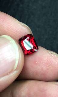 1.75ct Burma Red Spinel  clear