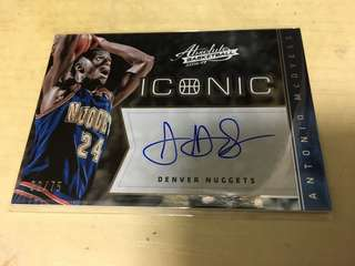 NBA Antonio McDyess on card 限量簽名咭