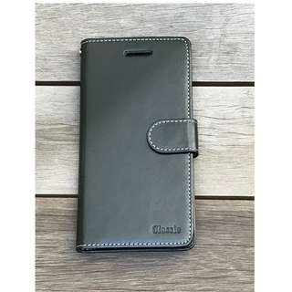 iPhone 7+/8+ leather note book casing black