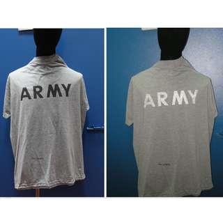 全新及二手美軍軍發真品灰色體能訓練反光短袖T恤US ARMY Physical Training Tee 1 件