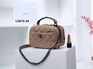 fa58b153563f49 Chanel Carry Around Bowling Bag Include Box L5810-2#21 Bahan Faux Calfskin  Leather