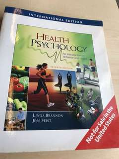 Health Psychology - An Introduction to Behavior and Health by Linda Brannon & Jess Feist