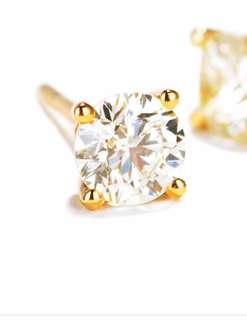 18k金珠寶店鑲工耳環