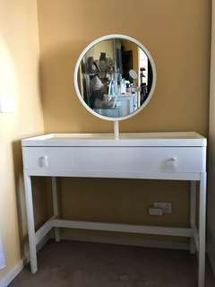 IKEA dressing table with mirror excellent condition