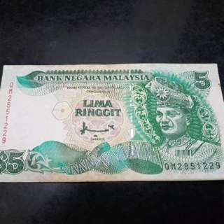 Malaysia RM5 Old Note