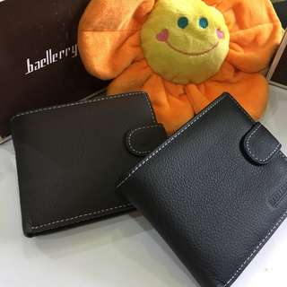 Genuine Leather Men's Wallet - Baellerry Quality Brand