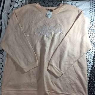 Pastel pink sweatshirt(Oversized)
