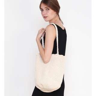 PO Eli Woven Knit Bag