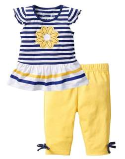 (NEW) BNWT flower design girls set (come in many sizes)