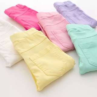 BNWT candy colours girls tights/pants