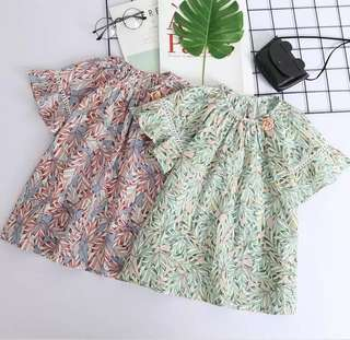 (NEW) BNWT floral girls blouse