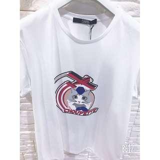 Brand New Authentic Karl Lagerfeld Women Choupette Jets T-shirt Size: XL