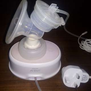 Philips Avent Comfort Single Electric Breast Pump with free Avent Manual Breast Pump