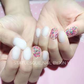 Classic Gel Manicure With Color Of The Week <White> @ $18