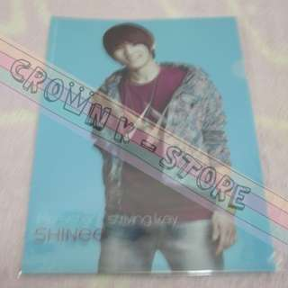 [CRAZY DEAL 90% OFF FROM ORIGINAL PRICE][READY STOCK]SHINee KEY KOREA OFFICIAL A4 SIZE CLEAR FILE 1PC!!OFFICIAL ORIGINAL FROM KOREA (PRICE NOT INCLUDE POSTAGE)PLEASE READ DETAILS FOR MORE INFO