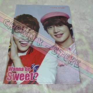 [CRAZY DEAL 90% OFF FROM ORIGINAL PRICE][READY STOCK]SHINee ONEW+MINHO KOREA OFFICIAL A4 SIZE CLEAR FILE 1PC!!OFFICIAL ORIGINAL FROM KOREA (PRICE NOT INCLUDE POSTAGE)PLEASE READ DETAILS FOR MORE INFO