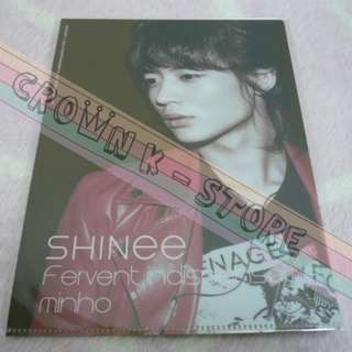 [CRAZY DEAL 90% OFF FROM ORIGINAL PRICE][READY STOCK]SHINee MINHO KOREA OFFICIAL MINI CLEAR FILE 1PC!!OFFICIAL ORIGINAL FROM KOREA (PRICE NOT INCLUDE POSTAGE)PLEASE READ DETAILS FOR MORE INFO