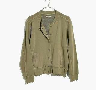 Madewell Sweatshirt Olive Jacket