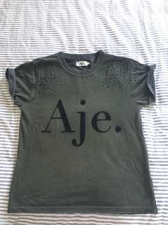 Aje Distressed Beaded Tee Shirt S SOLD Out Item