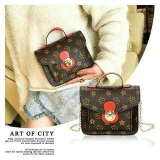 Vintage Square Sling Bag