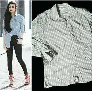 #MidMay75 Stripes boyfriend shirt