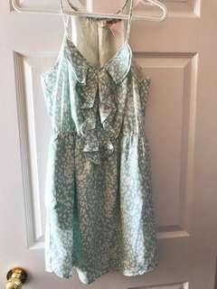 F21 mint green summer dress